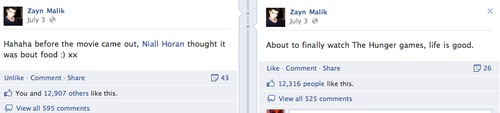 haha read the right one first! (; classic niall (one direction,facebook,zayn malik,niall horan)