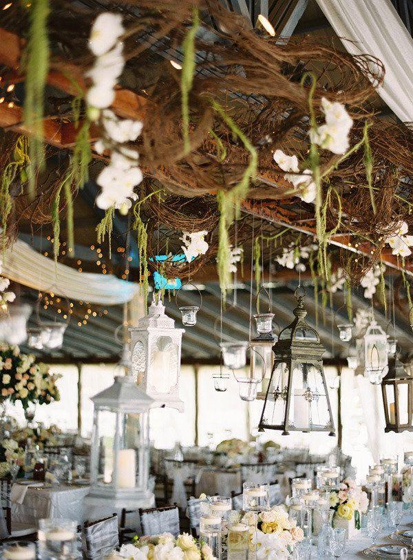 secret garden | hanging lanterns | ryan ray photography | via: style me pretty