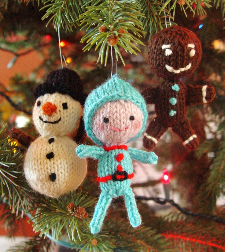 knitted christmas ornaments