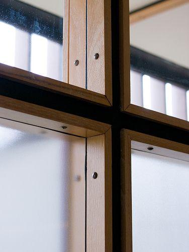 Uno de los detalles + sencillos y efectivo. Window detail. Mount Angel Library.