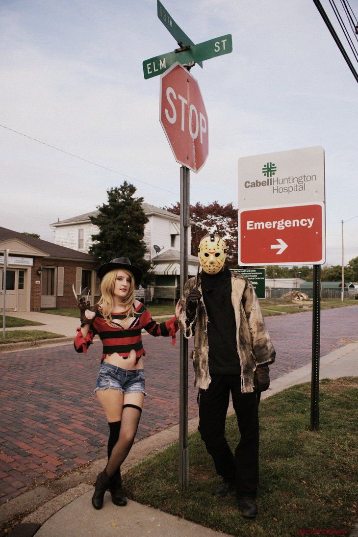 """Every town has an Elm Street!"" How cool is it that we found this street sign? I just wish the houses and hospital sign weren't in the background. Fem Freddy Krueger/ Kotobukiya Freddy:  ..."