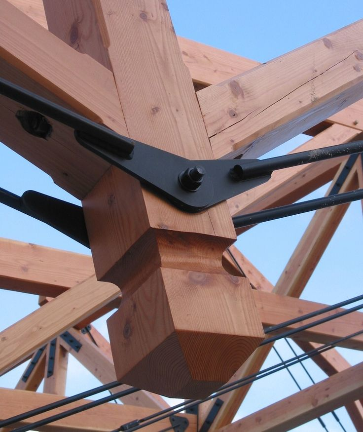 Wood And Steel Structure : Ideas about steel trusses on pinterest building a