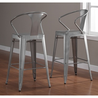 Tabouret Silver with Back 30-inch Bar Stools (Set of 2) (Metal) & 24 best 30 Inch Bar Stools images on Pinterest | 30 inch bar ... islam-shia.org