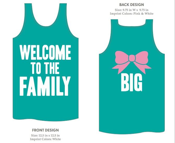 Adorable idea for Big/Little shirts!