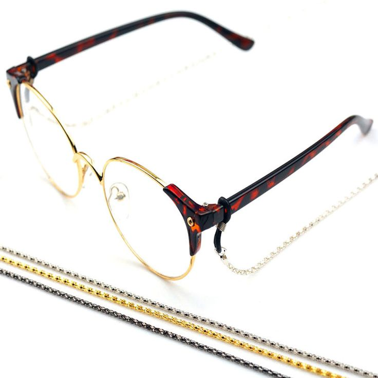 Cordon à lunettes - Chaîne à lunettes en aluminium de couleurs différentes et en design Chaînes à maillons (bleu azur, single pack)