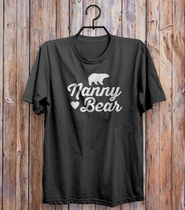 Nanny Bear T-shirt Black