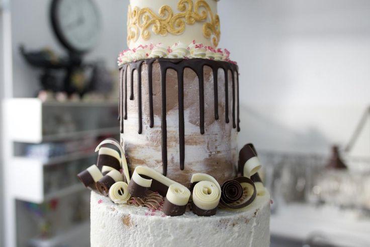 Brownie taart met chococrème en drips recept | Dr. Oetker