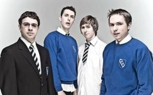 Teenage kicks: Simon Bird, Blake Harrison, James Buckley and Joe Thomas