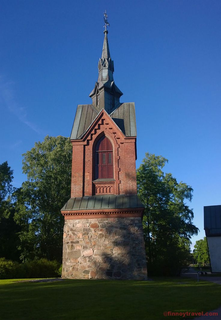 The Church of St. Lawrence's tower in Vantaa.