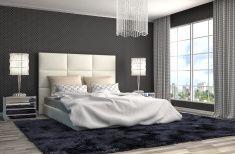 ベッドルームのインテリア。3 d イラストレーション stock photo