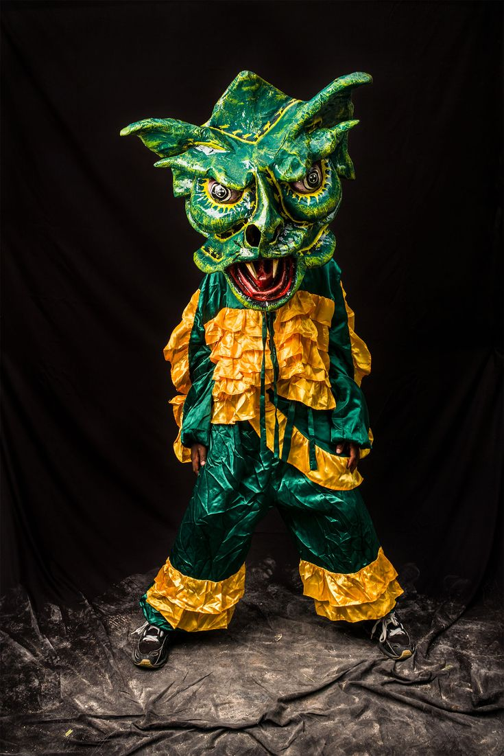 Picture of a person in a green costume
