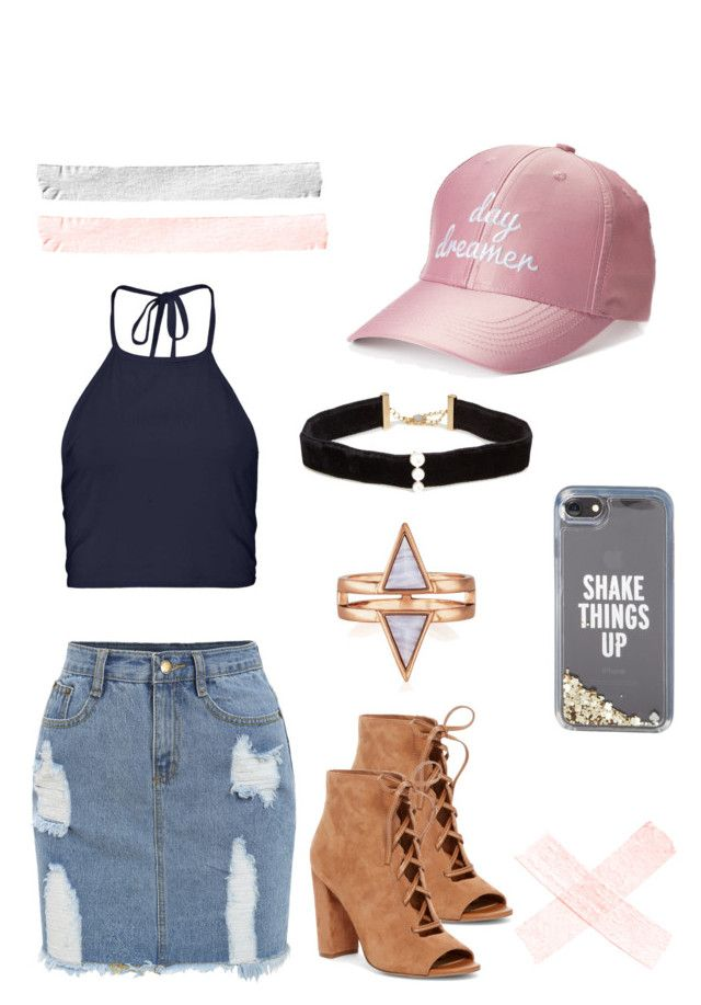 """""""Why'd you have to go and make me like you?"""" by justanotherjolly on Polyvore featuring madden NYC, Kate Spade, Boohoo, Anissa Kermiche and Sam Edelman"""