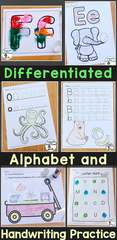differentiated alphabet  u0026 handwriting practice for