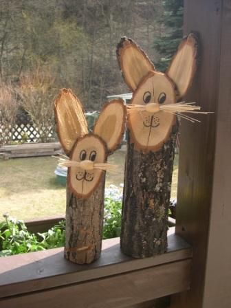 Wooden Bunnies DIY
