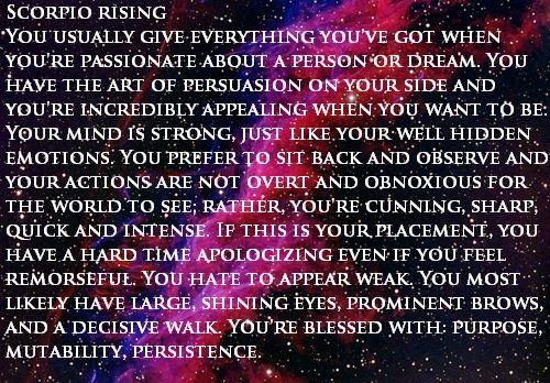 Scorpio Rising/Ascendant