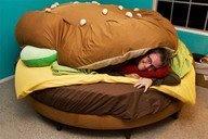 want!!: Cheeseburgers, Hamburg Beds, Sleep Bags, Veggies Burgers, Food, Bedrooms, Kids, Beds Design, Unique Furniture