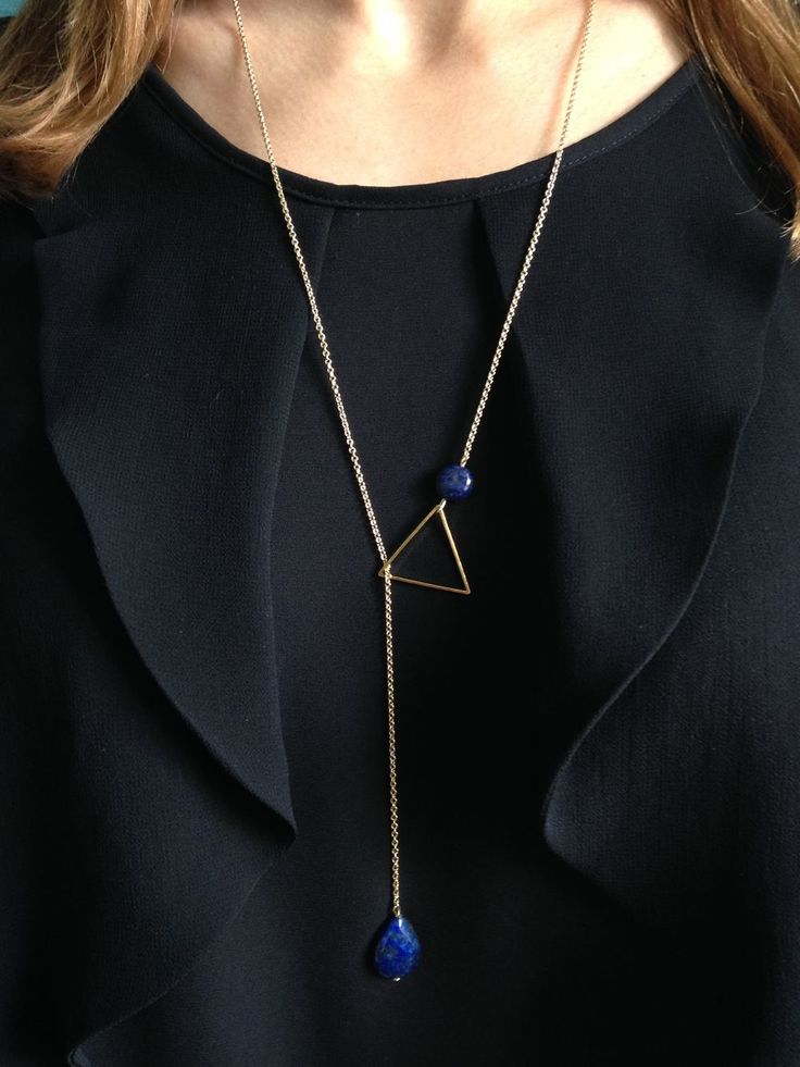 Ama bijoux, sautoir cravate lapis lazuli, Emma&Chloe