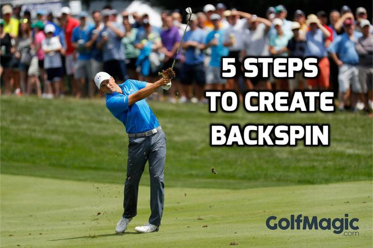 Backspin. Something that draws gasps from the galleries, and generally makes you look a bit darn good at this game. Find out how... #golfmagic #golftips #lovegolf