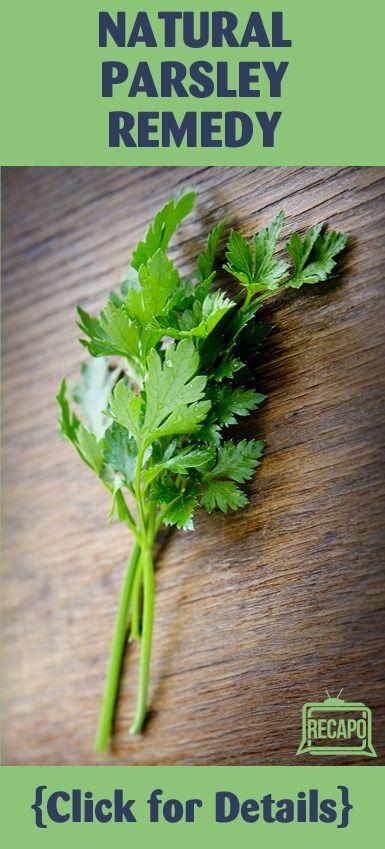 """Parsley actually is a powerful natural diuretic,"" Dr Oz ..."