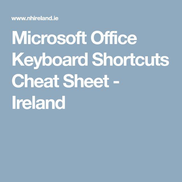 ms office keyboard shortcuts pdf