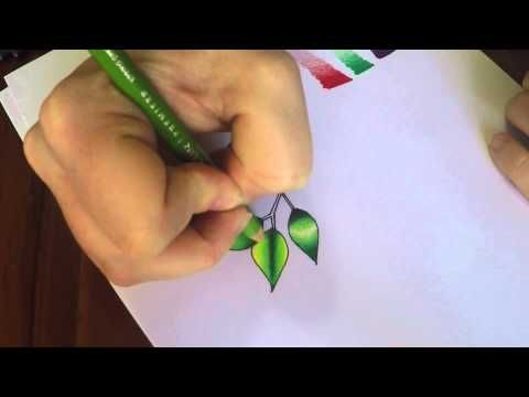 Basic shading and blending tutorial using Prismacolor Premier pencil - YouTube (Sam Mac)