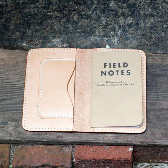 PAQUETE pasaporte cubierta / notas de campo caso / doblado | Cuero ...