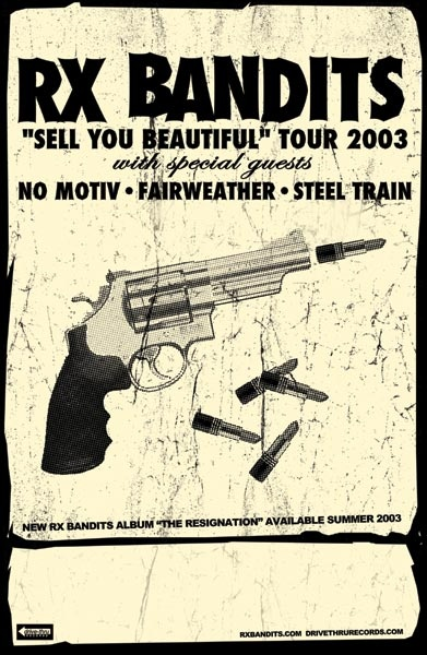 GigPosters.com - Rx Bandits - No Motiv - Fairweather - Steel Train
