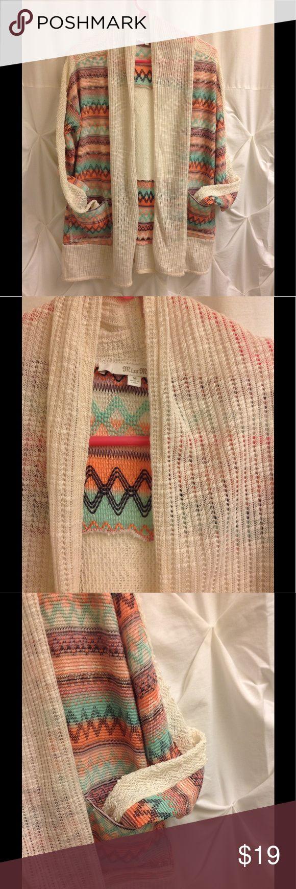 Miss me Aztec print cardigan M Miss me Aztec print cardigan Sweater M Miss Me Sweaters Cardigans