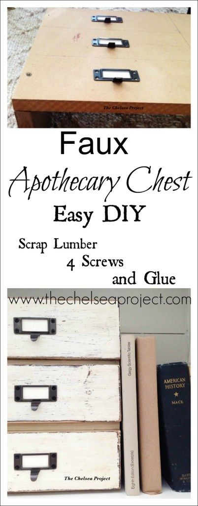 Faux Apothecary Chest | Easy DIY | The Chelsea Project | #sponsor | www.thechelseaproject.com