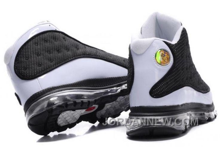 Men's Nike Air Max Jordan 13 Shoes White/Black Super Deals BPZEtDA