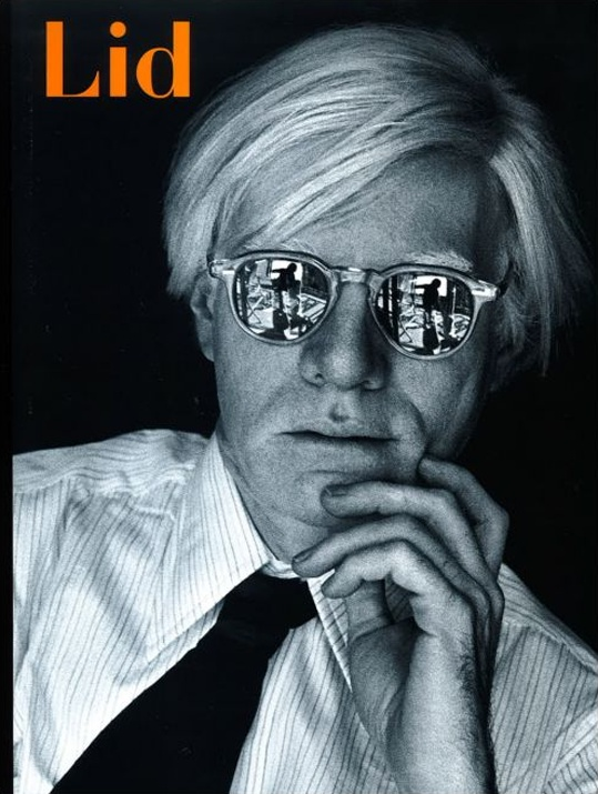 Andy Warhol on the cover of Lid magazine. The best photo I've ever seen of AW. Photographer: Firooz Zahedi