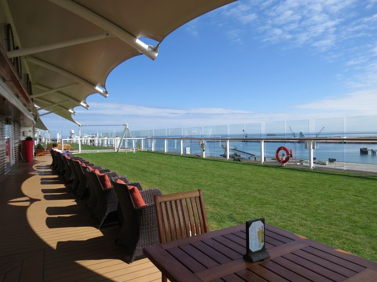Celebrity Cruises - Aboard Celebrity Eclipse - The Lawn (Real grass) on top deck