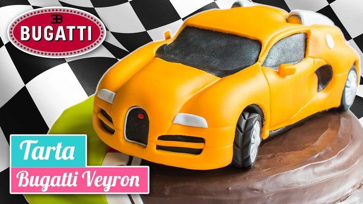 Tarta coche Bugatti veyron