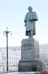 Nicolas Gogol statue in Moskow.