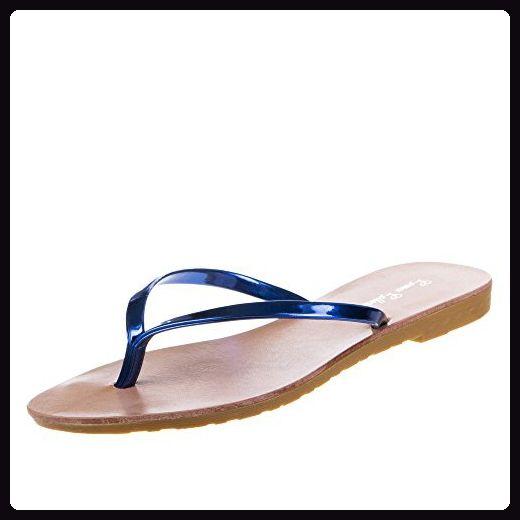 Zehentrenner Damen Slim Sandalen Schuhe Flats Thong Sandalen Sommer Schuhe Strand Flip Flop Hausschuhe  41 EUGrau