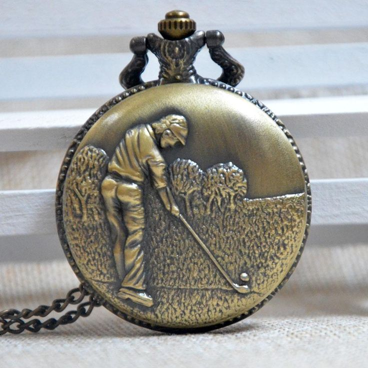 digital pocket watch, the traditional ones, personalized pocket watch and cool pocket watches of delicate design can show your vintage feel and good taste, check out the wholesale-classical golf quartz pocket watch vintage men and women gift necklace chain pendant regarder a164 provided by handofart.