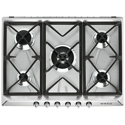 buy smeg sr975xgh victoria integrated gas hob stainless steel online at