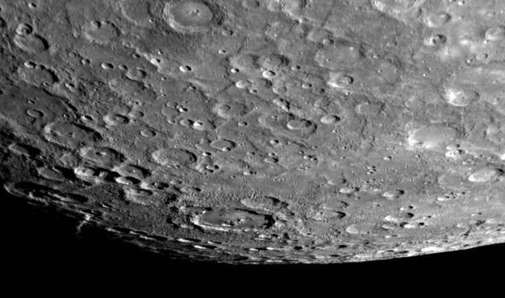 On January 14, 2008, the MESSENGER spacecraft passed 200 kilometers (124 miles) above the surface of Mercury and snapped the first pictures of a side of Mercury not previously seen by spacecraft. This image shows that previously unseen side, with a view looking toward Mercury's south pole.