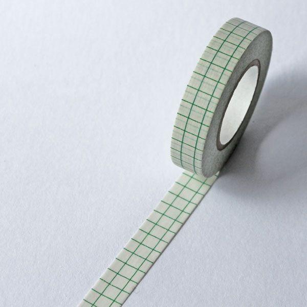 Washi páska úzká-sešit zelený,15m