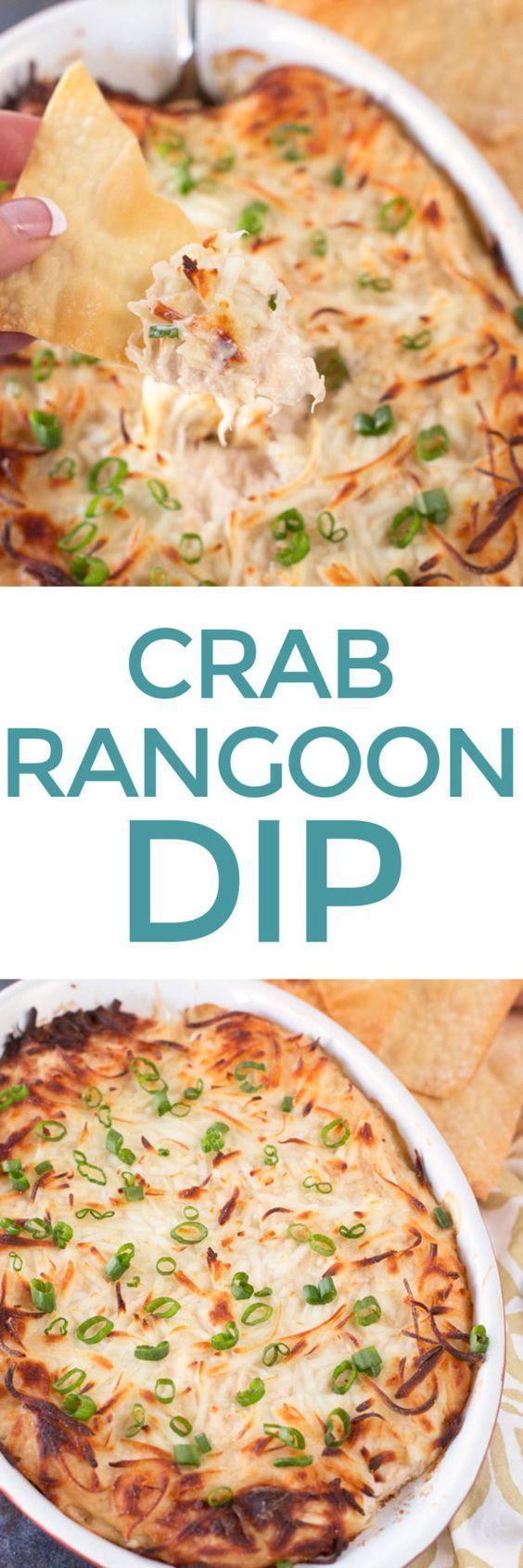 Crab Rangoon Dip with Crispy Won Ton Chips – Cake 'n Knife