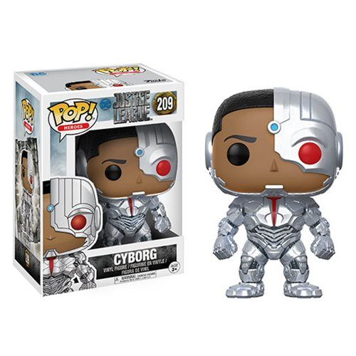 Justice League Movie Cyborg Pop! Vinyl Figure - Funko - Justice League - Pop! Vinyl Figures at Entertainment Earth