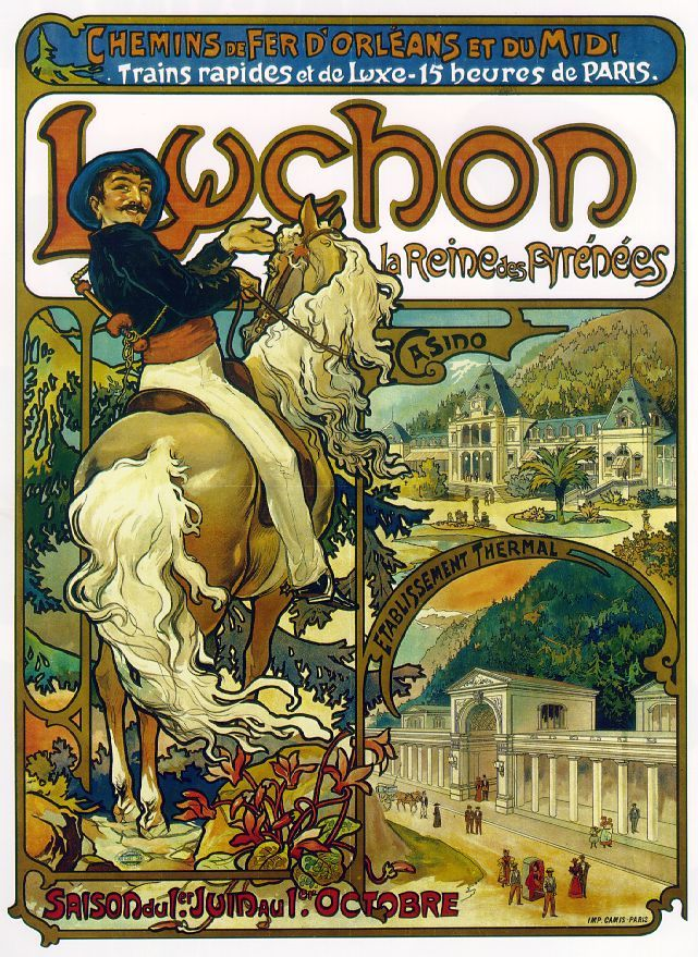 Alphonse Mucha - Luchon, 1895. Poster
