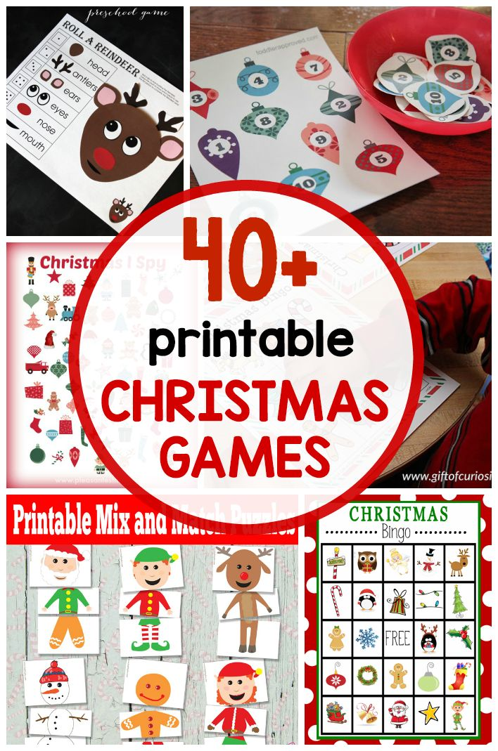 Looking for free printable Christmas games for a classroom party or family gathering? We've got more than 40 of them!