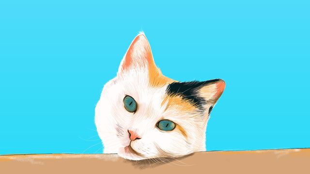 Blue Cat Cute Pet Animal Lovely Hand Painted Blue Sky Illustration Image On Pngtree Free Download On Pngtree Animal Illustration Cute Animals Animals