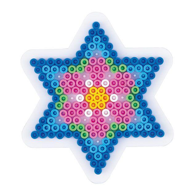 Klein Hama strijkkralenbordje in de vorm van een ster. Exclusief strijkkralen. Afmeting: 10 x 10 cm. - Hama Strijkkralenbordje - Ster