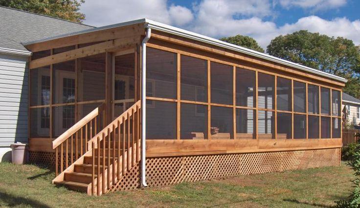 The 25 best enclosed decks ideas on pinterest patio for Enclosed deck plans