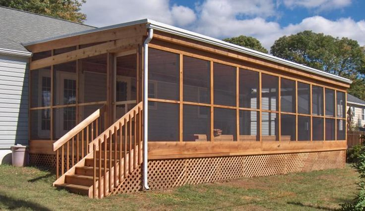 Enclosed backyard deck... I want to have one because when it storms I love to watch them...