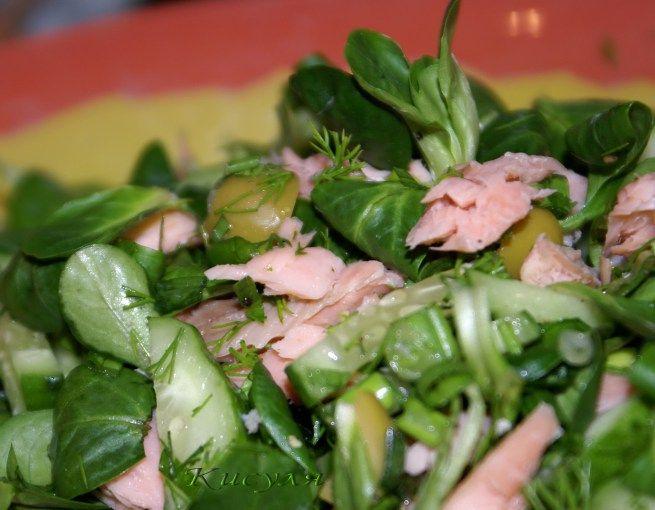 Рыбный салат из копчёной трески