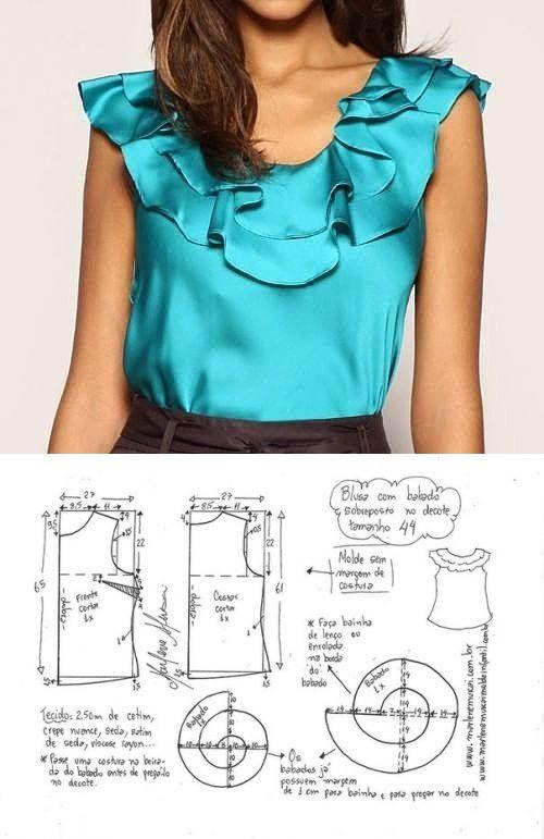 La costura ✂ los Patrones. ¡La blusa del atlas!