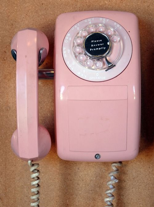 Pink wall mounted telephone                                                                                                                                                                                 More